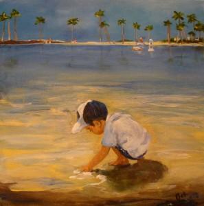 Boy on the beach 2