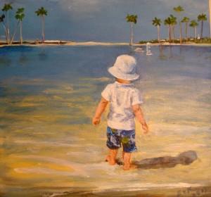 Boy on the beach 3